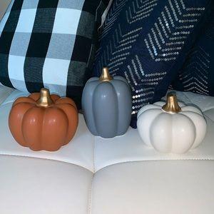 LAST SET!! ••Ceramic Pumpkin Trio